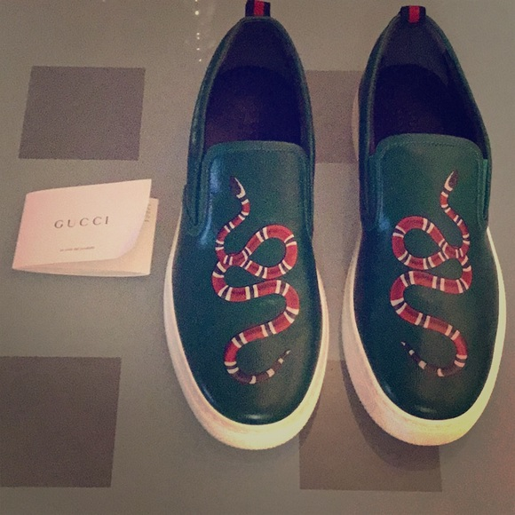 ebcd3bc7d57 NWOT🔥Authentic Gucci Mens King Snake Motif Loafer. Listing Price   280